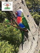 36cm parrot (rainbow lorikeet) wall plaque art hanger bird figurine ornament
