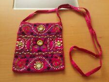 Small Pink Embroidered Shoulder Bag.