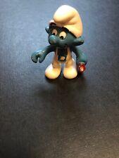 Smurf Gas Attendant - National - No Pump - Vintage Figure Schleich Peyo