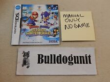 Mario & Sonic at the Winter Olympics Nintendo Ds Manual Only NO Game