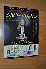 SYLVIE VARTAN TOURNEE 2018 FLYER LIVE IN JAPAN
