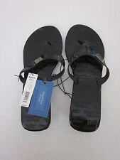 New $28.00 SIMPLY VERA - VERA WANG Black Sandals w/Silver Heel -  Size: L 9-10