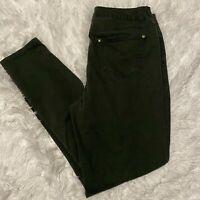 Dollhouse Womens Size 12 Green Studded Front Pockets Pants EUC