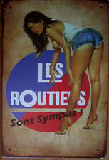 Plaque Métal  Pin'up Sexy Les Routiers 30 X 20