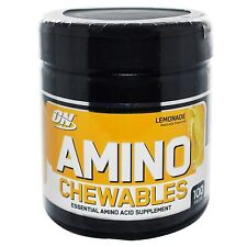 ON OPTIMUM NUTRITION AMINO CHEWABLES 100 tabs LEMONADE Energy Recovery Muscle