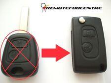 2 Botones Flip caso clave de actualización para Peugeot 307 remoto clave