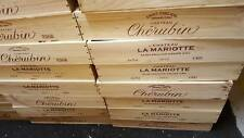 3 X FRENCH FLAT WOODEN WINE CRATE BOX BREAKFAST DINNER LUNCH SUPPER TRAY HOLDER.