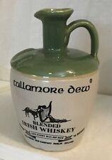 Vintage Tullamore Dew Ceramic Jugs Whiskey Distillery Pottery Bar no stopper