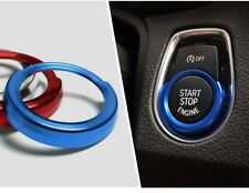 Iniciar botón de parada Interruptor De Encendido Cubierta Recortar Envolvente Para BMW Azul