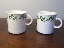 Arklow Ireland WILD SHAMROCK Brendan Cup Mug ~ Set of 2