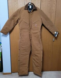 42 Tall NEW Walls Insulated Jumpsuit Coveralls Work Wear Duck Canvas Mens Warm