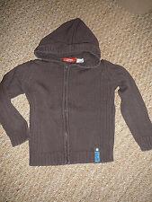 Gilet veste pull sweat à capuche marron garçon 4 ans Okaou