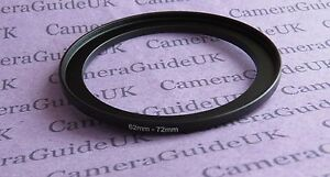 62mm to 72mm 62mm-72mm Stepping Step Up Filter Ring Adapter