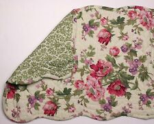 """Great Finds GINA Floral Quilted Cotton 12"""" x 42"""" Table Runner"""