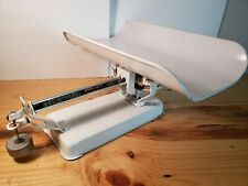 Vtg. Detecto Metal Beam-Type Baby Scale with +10 lbs Weight ~Tested~