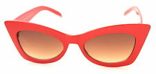 Red Cat Eye Sunglasses Vintage Retro Rockabilly 50s Style 170 Ladies Womens