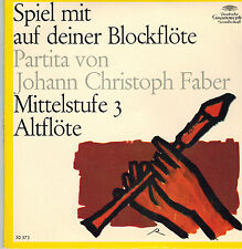 "7"" Game with on your recorder partita by J.C. Faber, intermediate 3, Alto"