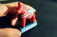 Swedish Dala Horse, Sweden Tourism Souvenir 3D Resin Fridge Magnet Craft GIFT