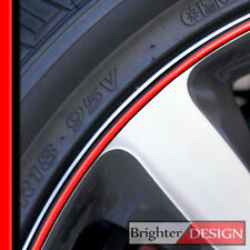 Cadillac CTS Wheel Bands Red in Black Rim Edge Protector for 13-22' Rims