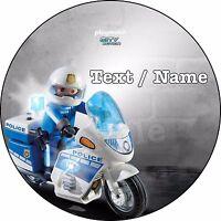 Polizei Tortenaufleger mit Polizeiauto Alter für Polizeiparty Mottotorte Name