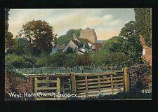 Sussex WEST HAM Church pre1919 PPC