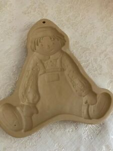 Brown Bag Cookie Art Mold Raggedy Andy Vintage 1986 Hill Design