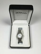 MOVADO Luxury Wrist Watch - 84-E6-0850 - Stainless steel NEEDS BATTERIES