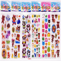 6 Sheets Pvc School  Sticker For Lot-Kids Reward  Animals Sticker Birthday Gifts