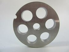 "#12 x 5/8"" Premium Stainless Steel meat grinder plate disc Electric or Manual"