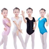 Kids Girls Tutu Princess Dress Stretch Slim Ballet Dance Leotard Dress 3-8 Years