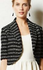 NWT Anthropologie Dotted Line Topper Cropped Jacket By Elevenses Size XS