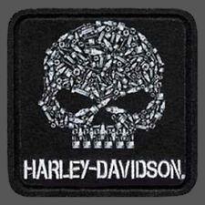 HARLEY DAVIDSON WILLIE G SKULL MOTOR HEAD PATCH