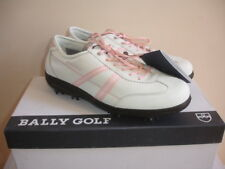 Bally Golf Challenge Size 10 White Pink Blk Shoes Leather Women Sneakers New