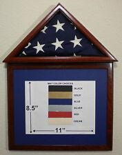3 X 5 MAHOGANY MATBOARD FLAG DISPLAY CASE/FRAME CAPITAL EAGLE SCOUT MILITARY