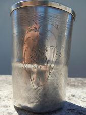 Gobelet Timbale en argent massif poinçon minerve d'époque 19ème