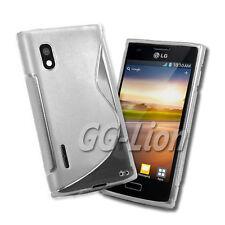 TPU Silicone Case Skin for LG Optimus L5 / E610 / E612 / LG E610. clear white
