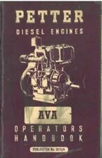 Petter Diesel Engines AVA Operator Manual With Parts List - AVA1 & AVA2