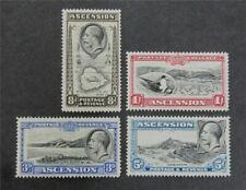 nystamps British Ascension Stamp # 27-30 Mint Og H $33 U4y1452