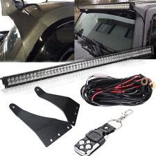 "For Hummer H3 50""IN 288W LED Light Bar w/Upper Windshield Roof Mount Bracket Kit"