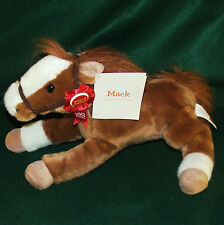 """WellsFargo """"Mack"""" Legendary Plush Pony 2012 Stage Coach 160 Years Ribbon 18"""" NWT"""