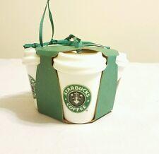 New Starbucks 2016 Siren Logo History 4 Pack Set Ceramic Christmas Ornaments