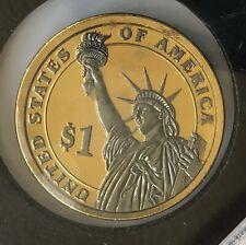 US 1 Dollar PLATINUM 24K GOLD Plated WASHINGTON LIBERTY COMMEMORATIVE PROOF COIN