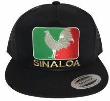 EL GALLO DE SINALOA MEXICO HAT MESH BLACK LOGO FEDERAL