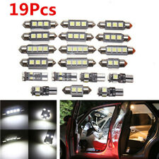 19 Pcs White LED Bulbs Car Interior Map Dome License Plate Lamp Light kit DC 12V