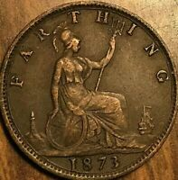 1873 GREAT BRITAIN VICTORIA FARTHING COIN