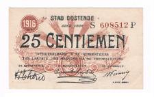25 Centiemen  STAD  OOSTENDE   21-06-1916    Noodgeld   WW I                 UNC