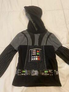 Disney Store DARTH VADER HOODIE Pullover Costume STAR WARS Kid's SIZE 4