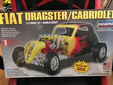 LINDBERG 73043 Fiat Dragster Cabriolet Model Kit 1/12