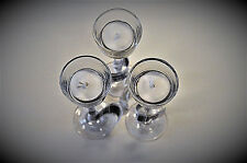 "Long Stem Glass Tealight Candle Holders 7"" Wedding Party Special Occasions LOT 3"