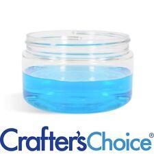 25 Pack 4oz Clear PET Plastic Jars Low Profile Refillable Empty